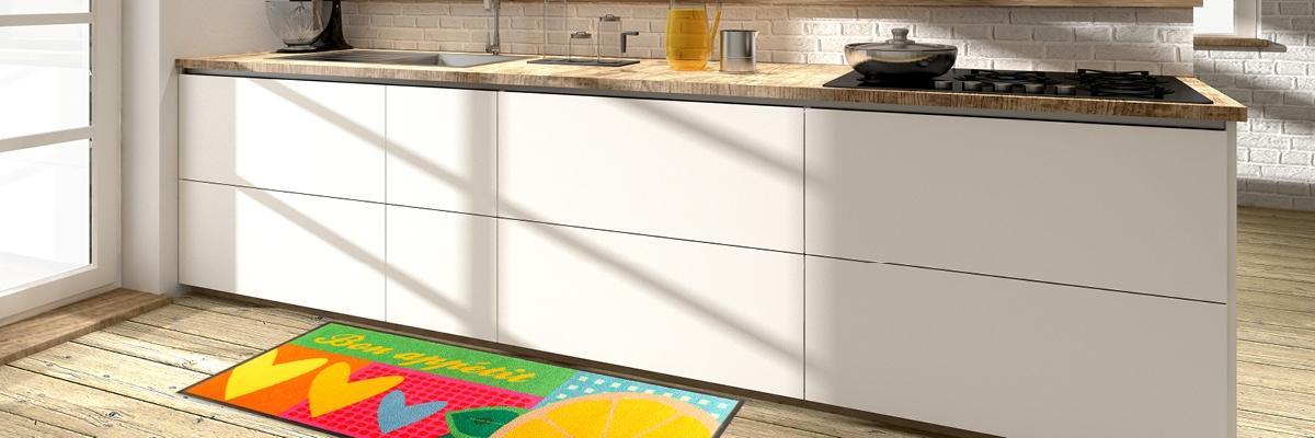 Fußmatte in Küche