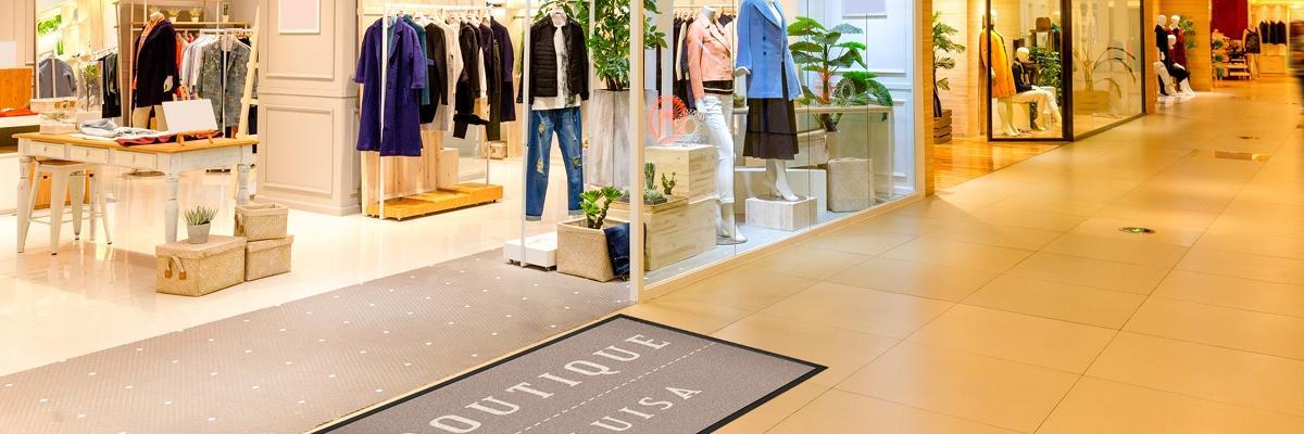 Fußmatte in Shop
