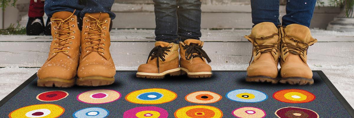 Fußmatte mit Stiefeln