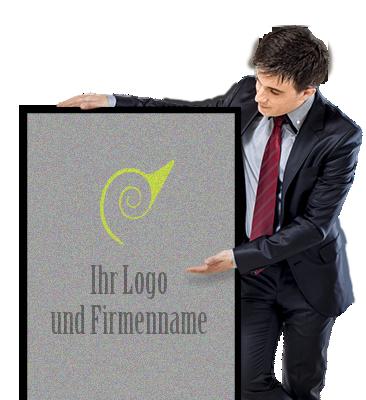 Fußmatte Logo und Firmenname
