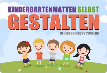 Kindergartenmatten selbst gestalten als Abschiedsgeschenk