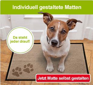 Die individuelle Fußmatte - Jetzt selbst gestalten